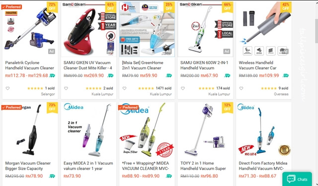 Vacuum Cleaners for Raya