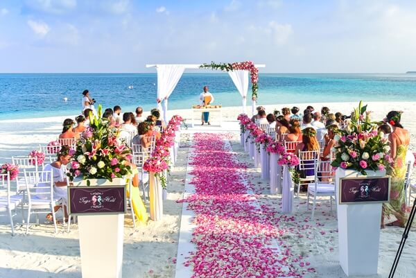 Aisle on Beach Wedding