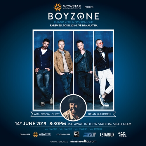 Boyzone Thank you and Goodnight Farewell Concert in Malaysia