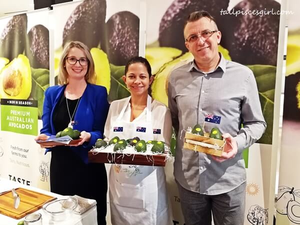 Caitlin Noble, Trade Commissioner of Austrade, Alexandra Prabaharan, Certified Nutritionist, Marc Francois, Fresh Distribution Centre Head, Jaya Grocer