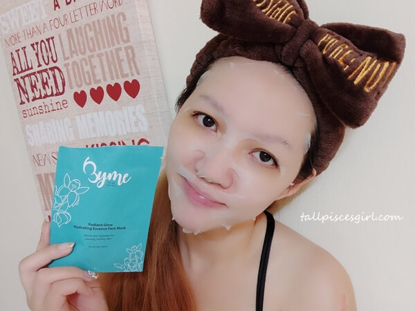 Using Byme Radiant Glow Hydrating Sheet Mask