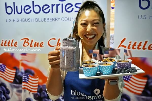 Linora Low demonstrated 2 recipes using US Highbush Blueberries