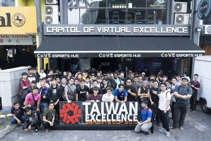 Players Group Photo for Taiwan Excellence Esport Cup 9th Tournament Qualifier