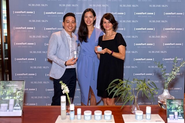 L-R: Mr. Yip Wei Yin, Chief Operating Officer of Luscious Solution Sdn Bhd, Ms. Hannah Lo, Women's Love & Relationship Coach, Ms. Helena Holden, International Manager of Comfort Zone