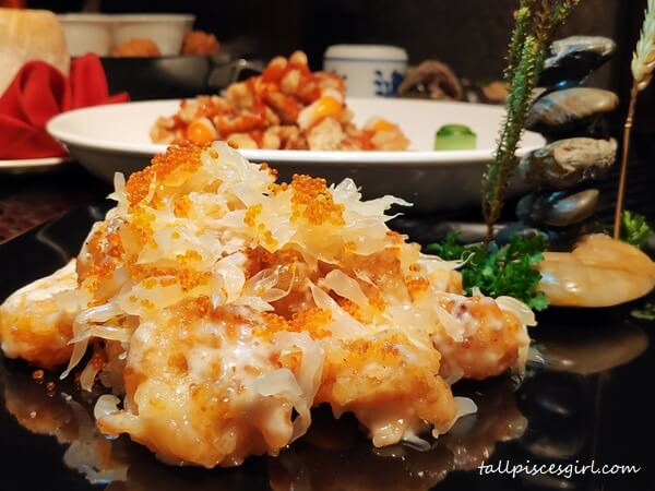 Pomelo Crispy Prawn with Homemade Sauce