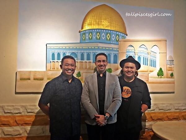 Rahim Sepahtu, Dr. Mustafa Mohammed and Alif Johan