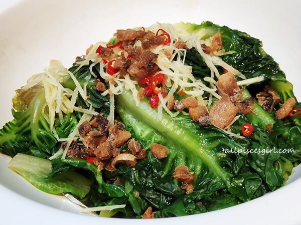 Stir Fried Romaine Lettuce with Salted Fish