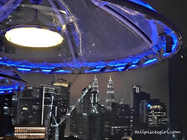 The skyline of Kuala Lumpur from 150 feet