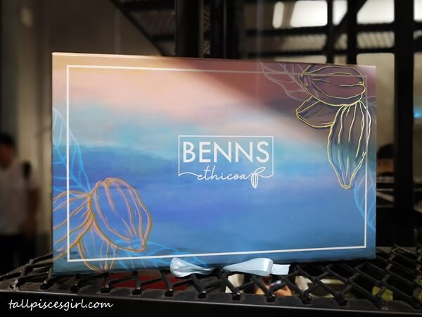 Benns bean-to-bar chocolates gift box