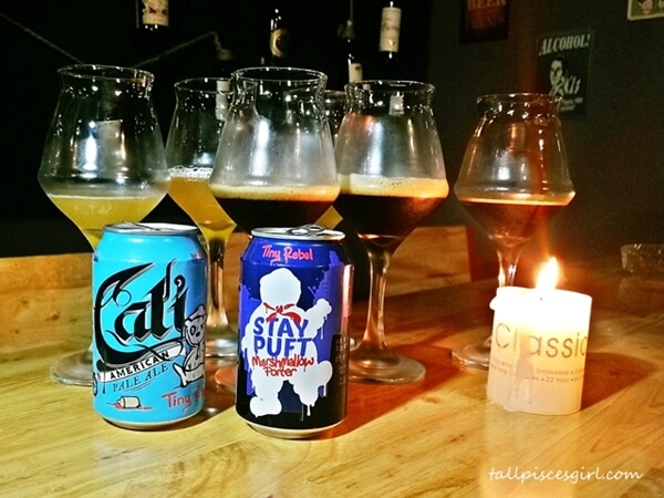 Cali American Pale Ale and Stay Puft Marshmallow Porter Dark Ale by Tiny Rebel Brewing