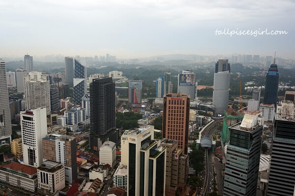 View from Tangerine The Face Suites KL