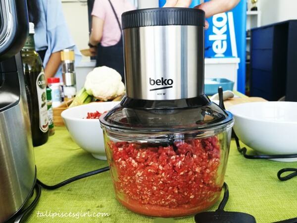 Getting our beef ready with Beko Chopper