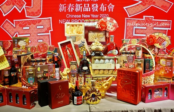 These are only a small portion from Jin Ye Ye Chinese New Year Hamper selections