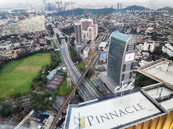 The view from Level 35 of Pinnacle PJ