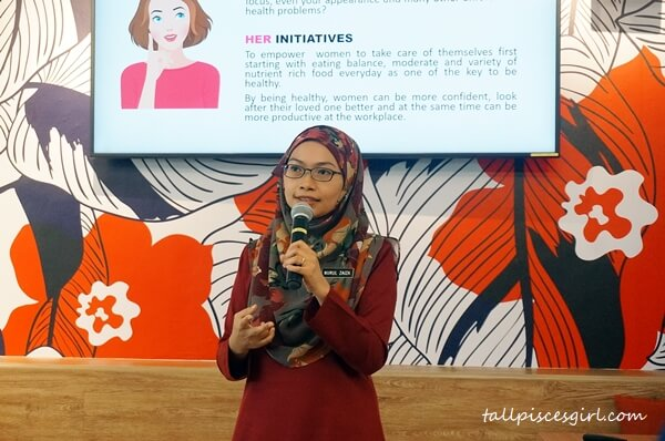 Pn Nurul Zaiza, Senior Assistant Director of Nutrition Division in Ministry of Health