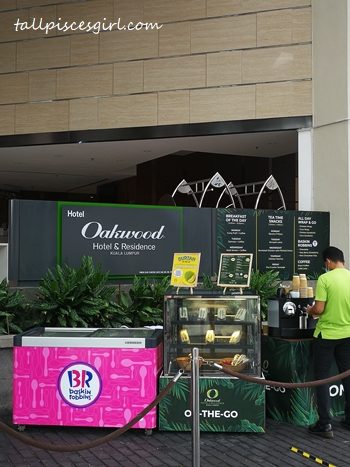 ON-THE-GO stall @ Oakwood Hotel and Residences Kuala Lumpur