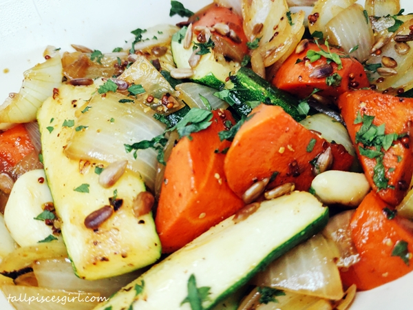 Roasted Root Vegetable with Honey Mustard