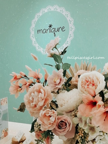 Lovely pastel green theme at Maniqure Sri Petaling