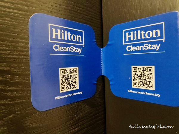 Hilton CleanStay Room Seal