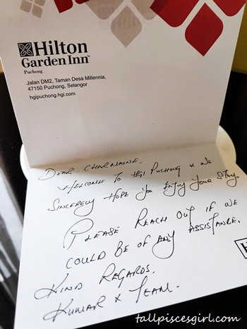 Sweet handwritten card from Mr Kumar
