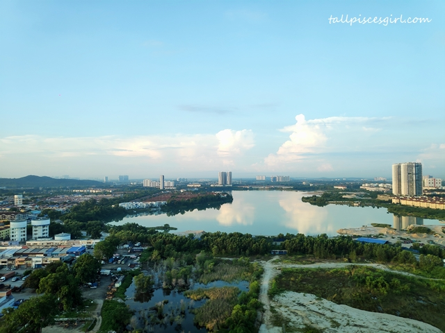 The view from Hilton Garden Inn Puchong King Deluxe Room Lake View