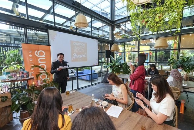 David Wong, Marketing Manager, Guardian Manager speaking at the launch of Guardian Healthy Beauty Awards 2020