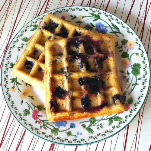 Washington Blueberries Wholewheat Waffles Recipe