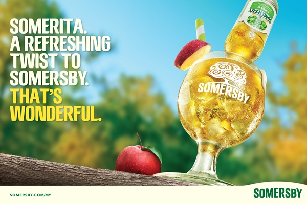 Somersby re-introduces Somerita, an upside down bottle served over crushed ice