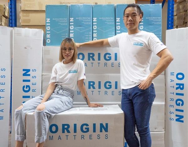 Founders of Origin Mattress, Shaun and Gee