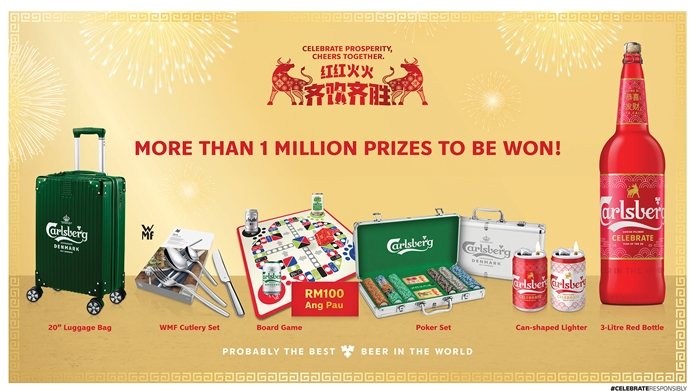 Cheers Together with Carlsberg and win prizes this CNY 2021