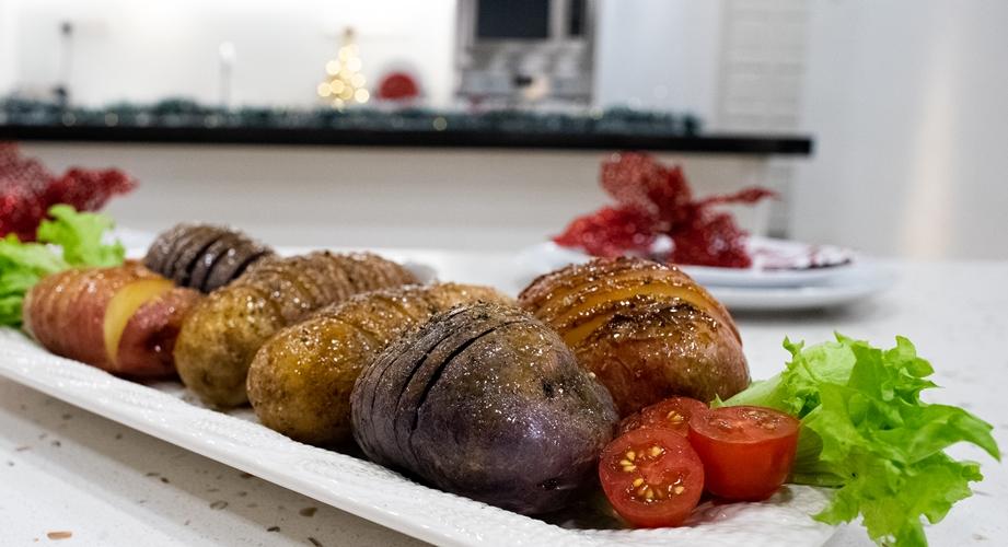 Honey Mustard Glazed Hasselback U.S. Potatoes