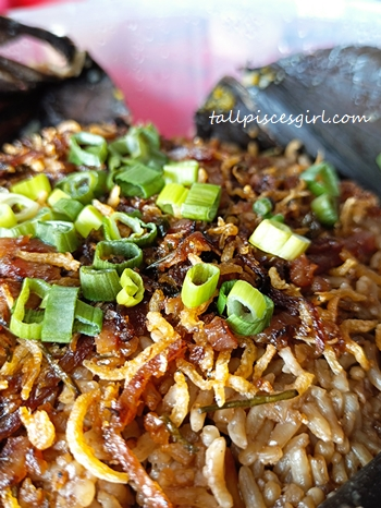 Fried Tea Rice with XO sauce in Lotus Leaf