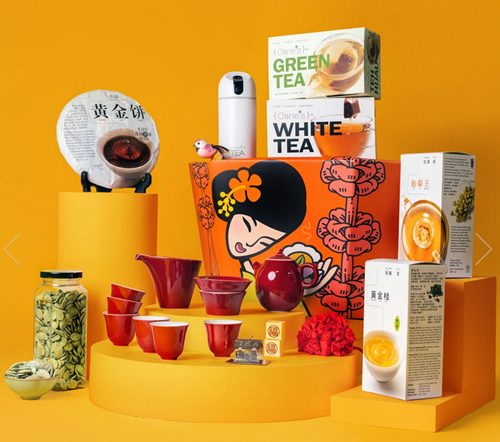 Purple Cane Tea Hamper for Chinese New Year