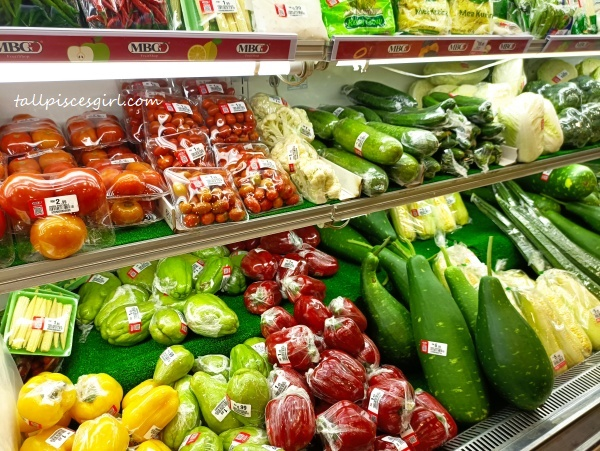 Fresh vegetables in chiller room