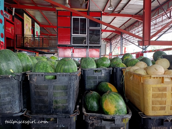 Watermelons from Thailand ready to be transported to MBG retail outlets