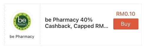 Be Pharmacy ShopeePay Voucher