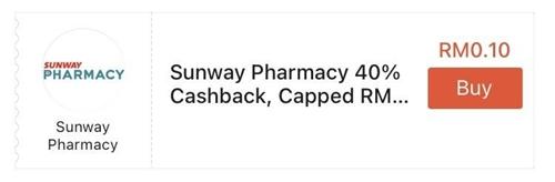 Sunway Pharmacy ShopeePay Cashback