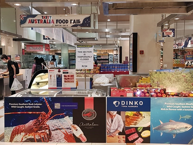 Sashimi grade Southern Rock Lobsters by Ferguson Australia at 8th Tasty Australia Food Fair