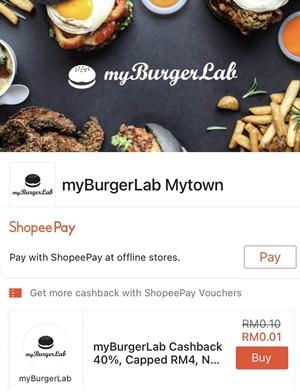 myBurgerLab @ MyTOWN Cashback on ShopeePay